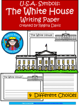 A+ U.S.A. Symbols: The White House Differentiated Writing Paper