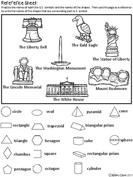 A+ U.S. Symbols and Math Shapes