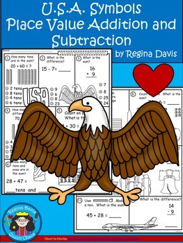 A+  U.S.A. Symbols  Place Value Addition and Subtraction