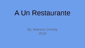 Reader's Theater: A Un Restaurante (visual accompaniment)