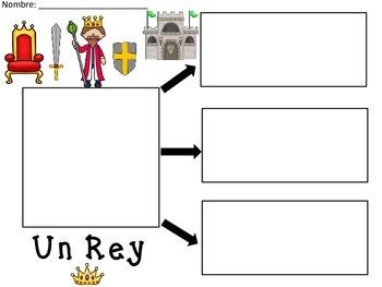 A+ Un Rey...Three Spanish Graphic Organizers