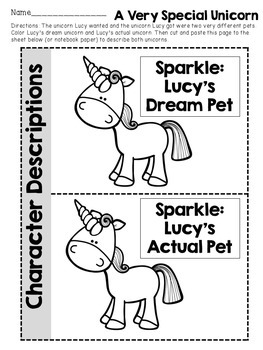 A Unicorn Named Sparkle Book Activities