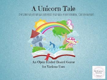 FREEBIE A Unicorn Tale Open-Ended Board Game Teletherapy Speech Digital