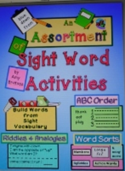 Sight Word Practice- a Unique Variety of Fluency Building Activities