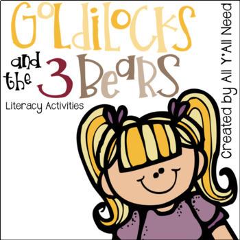Goldilocks and The 3 Bears Literacy Activities