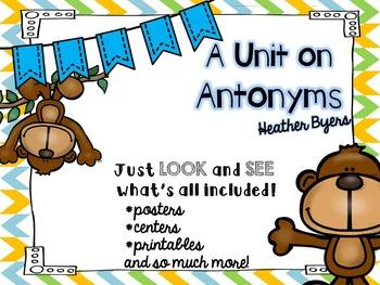 A Unit on Antonyms