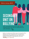 A Unit on Bullying for Secondary Students