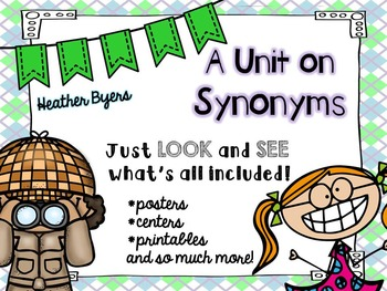 A Unit on Synonyms