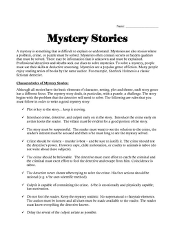 A Unit on the Mystery Genre