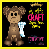 A - Ape Upper Case Alphabet Letter Craft