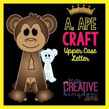 A - Ape Upper Case Alphabet Letter Craft