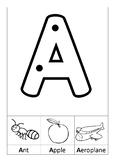A Uppercase Writing Sample (Version 1 - Starting Dots)
