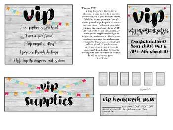 A VIP classroom kit - Editable!