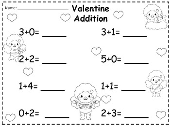 A + Valentine Cupid Addition 0-10