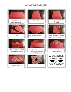 Valentine's Day-Valentine Envelope of Compliments/Upper Elementary/Character Ed