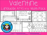 A+ Valentine Language Arts and Math Pack