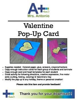 A+ Valentine Pop-Up Card