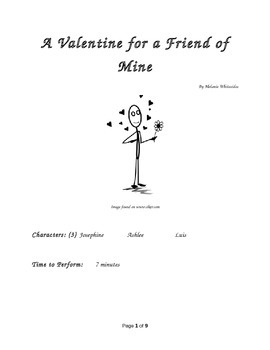 A Valentine for a Friend of Mine Small Group Reader's Theater