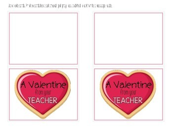 A Valentine from your Teacher {Freebie}