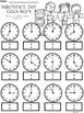 A+ Valentine's Day Analog Clock & Digital Clock Work (Hour & Half Hour)