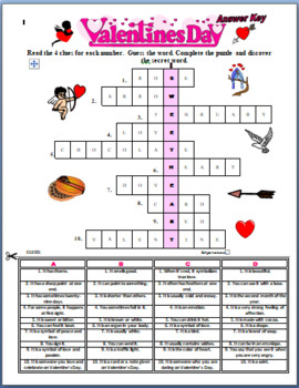 A Valentine's Day Crossword Puzzle with a Secret Word ( Round Robin / coop )