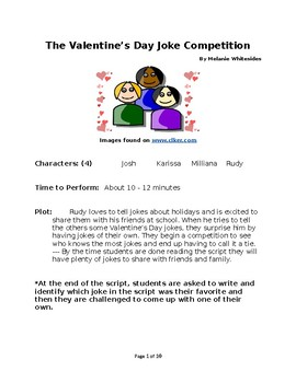 The Valentine's Day Joke Competition - Small Group Reader's Theater