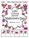A Valentine's I Spy Counting Activity for Little Kids