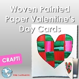 Woven Painted Paper Mini Valentine's Day Cards!
