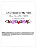 A Valentine's Day Fill-in Parts of Speech Practice