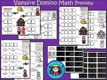 A+ Addition Vampire: Domino Math