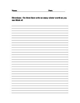 Creative Winter Writing Activities