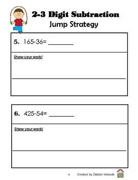A Variety of Subtraction Strategies Assessment Booklet