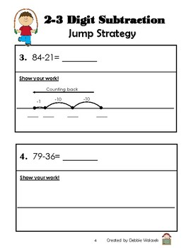 A Variety of Subtraction Strategies Practice Booklet- Grade 3