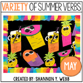 A Variety of Summer Verbs (A Grammar Craftivity)