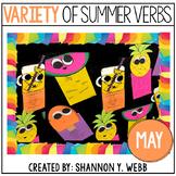 A Variety of Summer Verbs (A Grammar Craftivity)