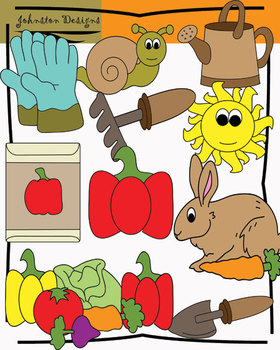 A Vegetable Garden Clipart Pack