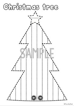 Christmas Activities - Trace Pin Cut and Paste Fine Motor