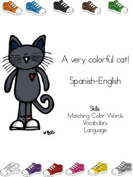A Very Colorful Cat (English-Spanish)