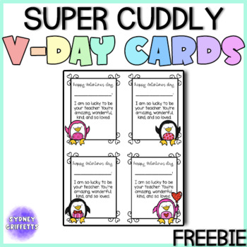 """""""A Very Cuddly Valentine"""" Cards for ALL GRADES"""