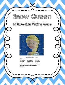 A Very Frozen Winter: Snow Queen Multiplication Mystery Picture