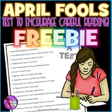 Free April Fools Test Prep to encourage careful reading!