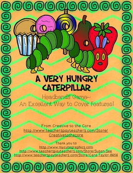 A Very Hungry Caterpillar Headbands Game!