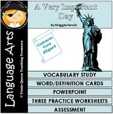 A Very Important Day Vocabulary Activities/Common Core Aligned