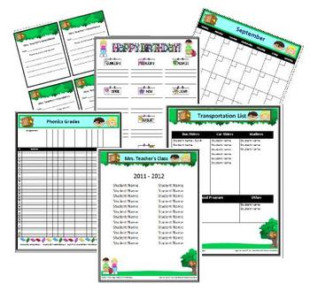 A Very Magical Tree House Classroom Forms & Substitute Pages