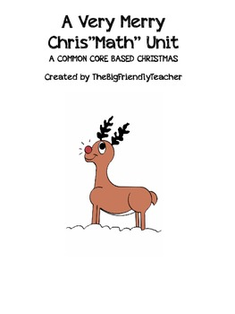"""A Very Merry Chris""""math"""" Common Core Holiday Math Activity"""