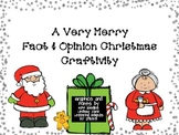 A Very Merry Christmas Craftivity {Fact and Opinion & Blan
