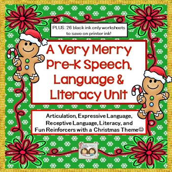 A Very Merry Christmas-Themed Pre-K Speech, Language & Lit
