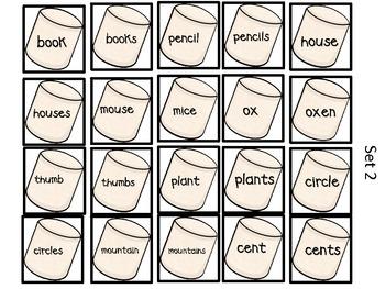 A Very Merry Noun! {Plural & Singular Noun Sorting Activity}