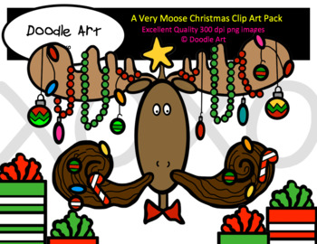 A Very Moose Christmas Clip Art Pack