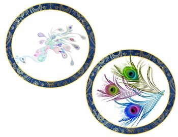 A Very Peacock Classroom: Editable Embellishments